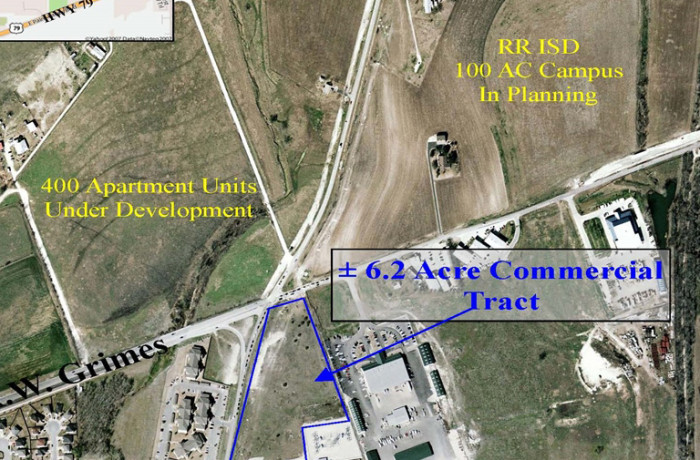 ±6.2 Acre Tract <br>SE Corner of A.W. Grimes and Old Settlers Blvd.